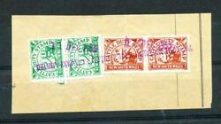 NSW Cattle Duty Stamps 1-pair  & 2d pair on piece Com'wth Wool & Produce Co Ltd