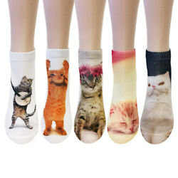 Wrapables® 3D Novelty Funny Ankle Socks Crazy Cats $10.95
