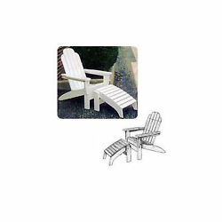 Woodworking Paper Plan to Build Adirondack Folding Chair and Footrest