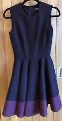 Lovely Alexander McQueen PurpleBurgundy Fit and Flare Lana Wool Dress Size 38