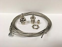 Lighting Parts LOT 2 1 8 IP CABLE GRIPPERS w 8#x27; S.S.Cable and stop sleeves $9.95