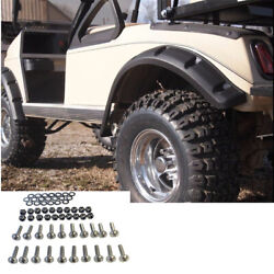 Club Car DS Golf Cart Fender Flares Front and Rear W Stainless Steel Hardware $49.95