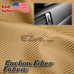 Gold Carbon Fiber Fabric Cloth Marine Vinyl 54