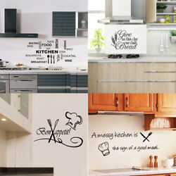 Vinyl Kitchen Wall Decal Rules Room Decor Art Quote Stickers Removable Mural DIY $7.90