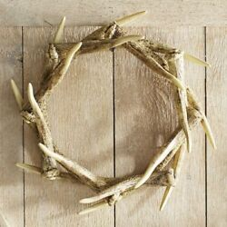 NEW Pier 1 One Rustic Faux Taxidermy Antler Wreath Wall Décor Centerpiece NWT
