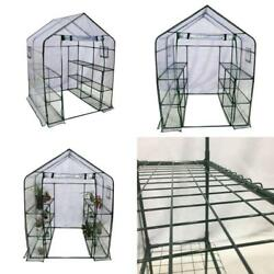 Abba Patio Mini Walk-In Greenhouse 6 Shelves Stands 3 Tiers Racks Portable