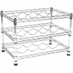 Seville Classics 12-Bottle Stackable Wine Rack 11.5-inch By 17.5-inch 12-inch