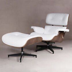 Classic Eames Style Lounge Chair and Ottoman Walnut wood White Hot Sale----US!!!