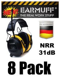 (8) 31dB WIRELESS YELLOW HEADPHONES Digital AM FM Radio MP3 Protection Ear Muff