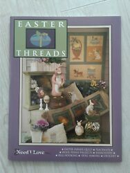 PATTERN BOOK Need'l Love EASTER THREADS Quilt Placemats Wool Penny Rug Hooking