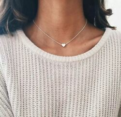 Silver or Gold Heart Choker Chain Pendant Necklace Women Jewelry $8.78