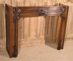 Antique French Louis XV Style Fireplace SurroundMantel in Walnut