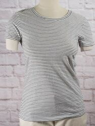 NWT Womens GAP Favorite Crew Neck T Shirt Black Stripe Modal Blend 807419BG $13.99