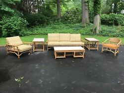 Six Pc Ficks Reed Rattan or Bamboo sun porch set
