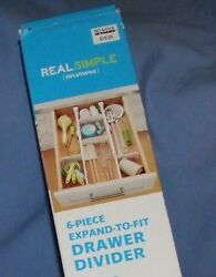 6 Piece Expand-To-Fit Drawer Divider-Clutter Organizer by Real Simple Solutions