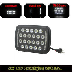 5x7 inch CREE LED Projector 66W Headlights with Angel Eyes DRL (Pack of 1)
