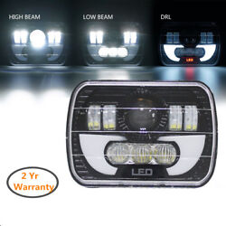 5x7 90W Projector LED Sealed Beam Headlight Assembly with Angel Eyes DRL
