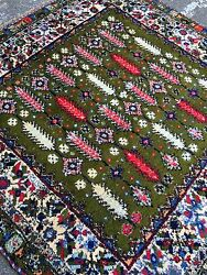Handmade Used Old Morocco CarpetWool&cottonsize:200cm by 200cm