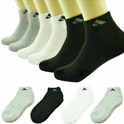 Adi 3 12 Pairs Ankle Quarter Crew For Mens Socks Athletic Cotton Size 9 11 10 13 $13.99