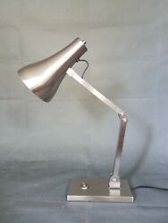 Industrial Modern Contemporary Table Lamp Satin Nickel $95.00