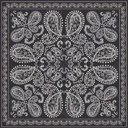 Black bandana pattern printed craft  vinyl sheet - HTV -  Adhesive Vinyl -   HTV