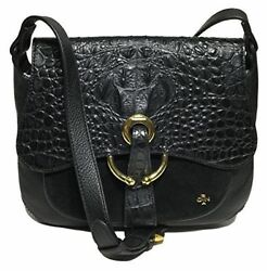 NWT orYANY Woman#x27;s Leather Suede Cross Body Black Color Adjustable Strap $379. $32.00