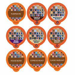 Double Donut Coffee Variety Pack Sampler for Keurig K cup Brewers 40 Count $13.99