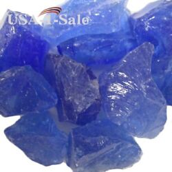 Fire Pit Fire Glass Gas Beads Stones Patio Heaters Outdoor 10 lbs Ocean Blue