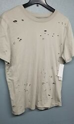 *NEW hudson mens fashion tee with rips $35.00