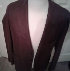 $3595 Loro Piana Cashmere and silk jacket Size US 42  EU 52 HAND Made in Italy