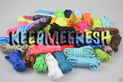 Oval Colorful Replacement Shoelaces 40+ Colors NEW Laces + BUY 2 GET 1 FREE $4.99