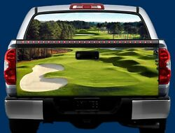 GOLF COURSE- Tailgate & Window Wrap KIT- Truck Tailgate Vinyl Graphic Decal Wrap