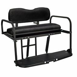 Gusto™ Club Car Precedent Golf Cart Flip Folding Rear Back Seat Kit - Black $279.00