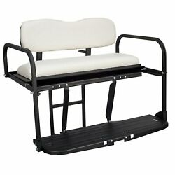 Gusto™ Club Car DS Golf Cart Flip Folding Rear Back Seat Kit - White For 1982-Up $279.00