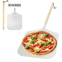Aluminum Pizza Peel Paddle with Detachable Wooden Handle 12