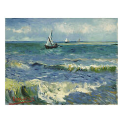 Canvas Prints Van Gogh Painting Repro Picture Wall Art Home Decor Seascape Blue $12.34