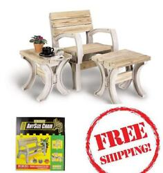 2x4 Basics Any Size Outdoor BenchChair Garden Kit Sand Child Play Relax BBQ