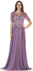 ELEGANT FORMAL CHURCH MOTHER of THE BRIDE GROOM EVENING GOWN CLASSY LONG DRESS $164.99