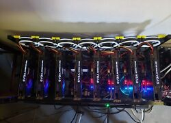 2 Cryptocurrency Mining Rigs 22 GBU Cards..Super Fast