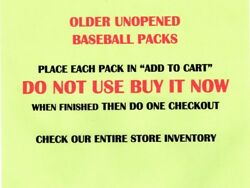 OLDER UNOPENED BASEBALL PACKS - SELECT FROM LIST