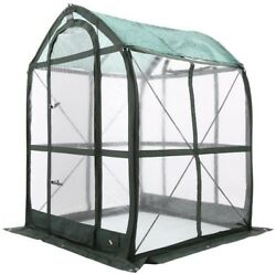 FlowerHouse Portable Greenhouse 5 ft. x 5 ft. Walk-in Collapsible Clear Cover