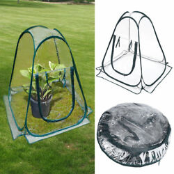 Clear PVC Greenhouse Flower Cover Warm House Garden Plant Foldable Tent Portable