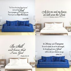 Bible Verse Wall Decals Christian Quote Vinyl Wall Art Stickers Scripture Decor $7.90
