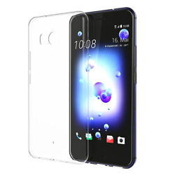 Case For HTC U11 Ultra Thin Crystal Clear Soft Silicone TPU Back Shell Cover