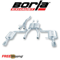 BORLA Cat-Back Performance Dual Exhaust Kit Fits 2002-2008 Audi A4 Quattro 1.8L