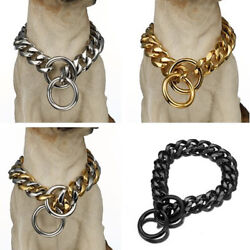New Strong 316L Stainless Steel Dog Chain Choker Collar Cut Curb Cuban 12quot; 36quot; $10.11