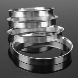 4Pcs Aluminum Wheel Hub Centric Rings Spigot Spacer Set 70.6mm ID to 72.6mm OD