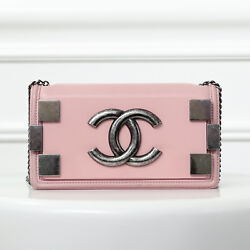 Authentic Chanel Light Pink CC Boy Brick Horizontal Flap Bag