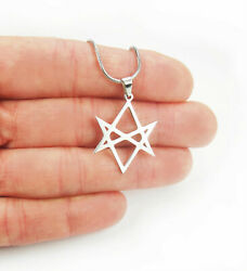 Unicursal Hexagram Necklace Seven 7 Pointed Star Stainless Steel Charm Pendant $12.00