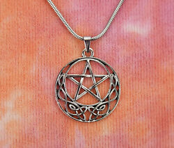 Celtic Pentacle Necklace Wicca Pentagram Star Charm Pendant Jewelry Pagan Gift